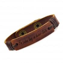 Leder Armband mit Druckknopf  1.4 cm - inklusive Gravur