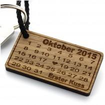 Holz Schlüsselanhänger - Herztag Kalender