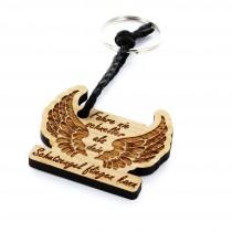 Holz Schlüsselanhänger Modell: Schutzengel