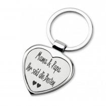 Lieblingsmensch Schlüsselanhänger in Herzform Modell: Mama & Papa Ihr seid die Besten
