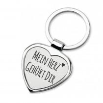 Lieblingsmensch Schlüsselanhänger in Herzform Modell: Mein Herz gehört Dir