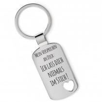 Lieblingsmensch Metall Schlüsselanhänger - Mein Versprechen an Dich…