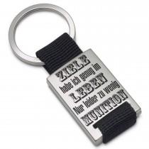 Metall Schlüsselanhänger Modell: Ziele habe ich genug