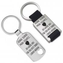 Metall Schlüsselanhänger - Keine Sorge mein Schatz