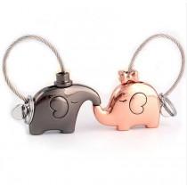 Schlüsselanhänger küssende Elefanten 1 Paar ( 2 Stück )