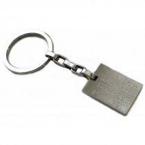 Edelstahl Schlüsselanhänger mit Diamantgravur