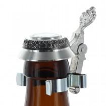 Zinndeckel für Bierflaschen mit Wunschgravur