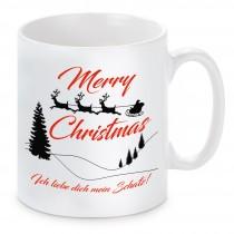 Tasse Modell: Merry Christmas personalisierbar