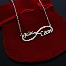 925 Silber Halskette - Namenskette Unendlichkeit