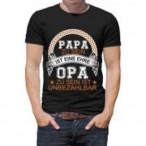 Herren T-Shirt Modell: Opa ist unbezahlbar