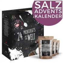 Salz-Adventskalender Weihnachtskalender mit verschiedenen Salzen