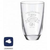 "Leonardo GIN-Glas ""When life hands you - Lemons make a GIN and tonic"""