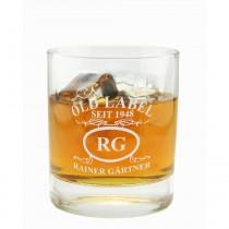 """Whiskyglas mit Gravur """"Emblem Old Label"""""""