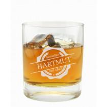 """Whiskyglas mit Gravur """"Emblem Genießer"""""""