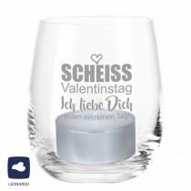 """Leonardo Windlicht """"Scheiss Valentinstag - Ich liebe Dich jeden einzelnen Tag!"""""""