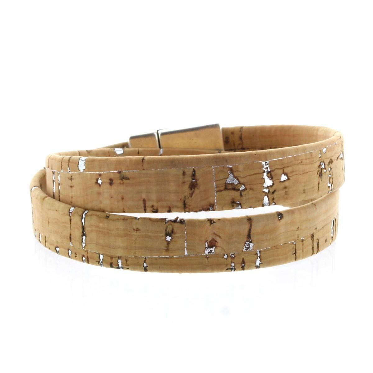 Lieblingsmensch® Gravur Armband Lederarmband 1,5cm Schnur 2fach Hellbraun Rand