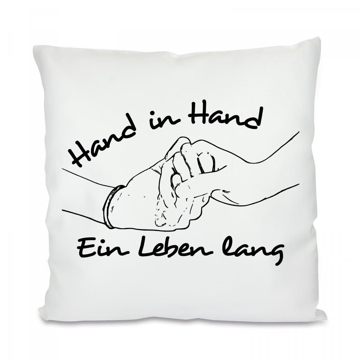 kissen mit motiv modell hand in hand. Black Bedroom Furniture Sets. Home Design Ideas