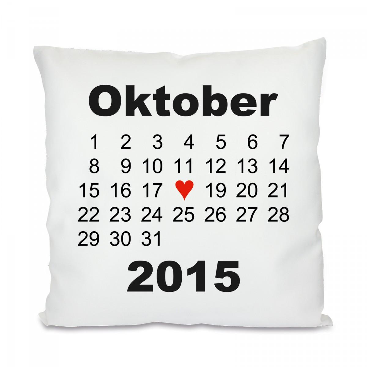 kissen mit motiv modell herztag kalender. Black Bedroom Furniture Sets. Home Design Ideas