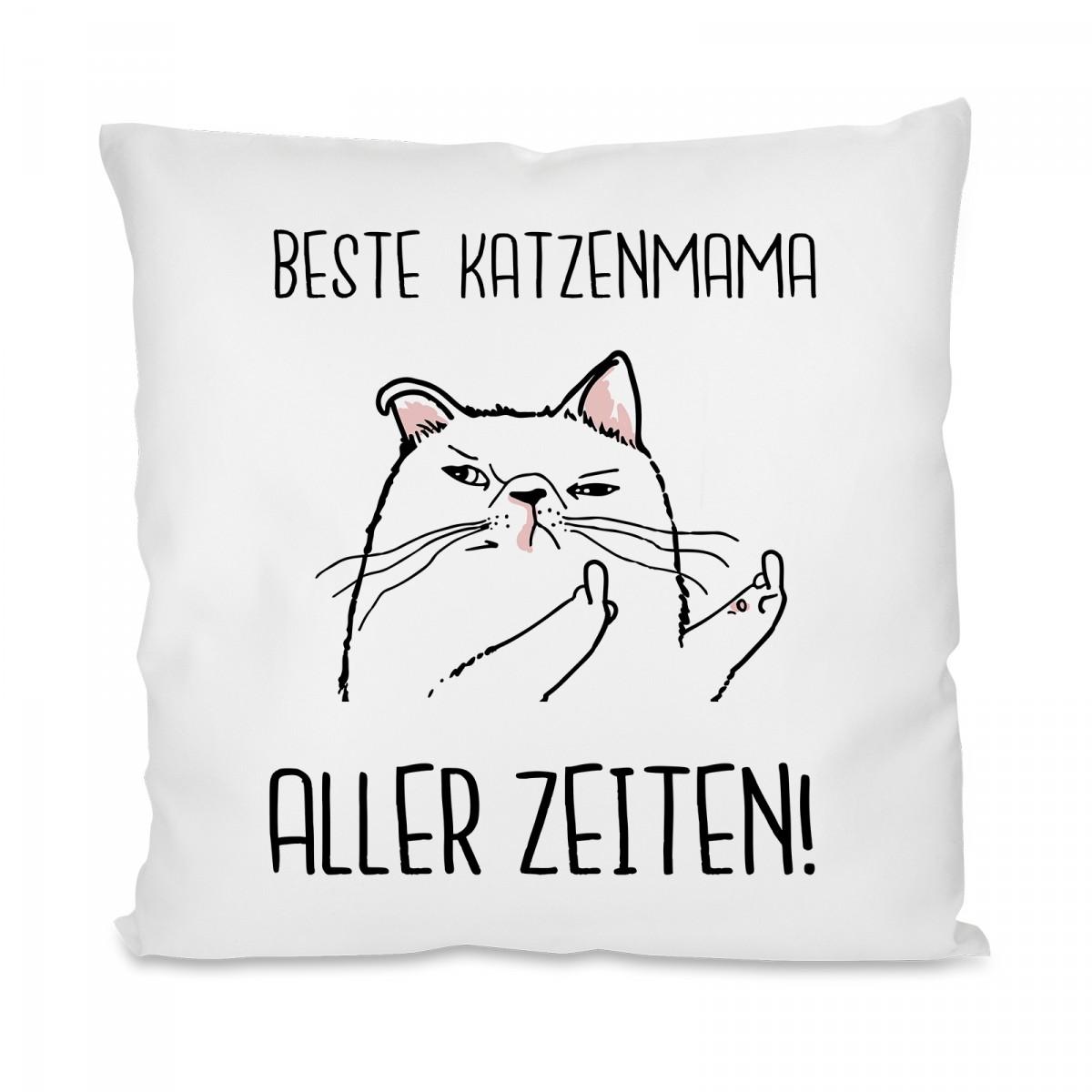 Herzbotschaft® Kissen mit Motiv Beste Katzenmama Aller Zeiten!