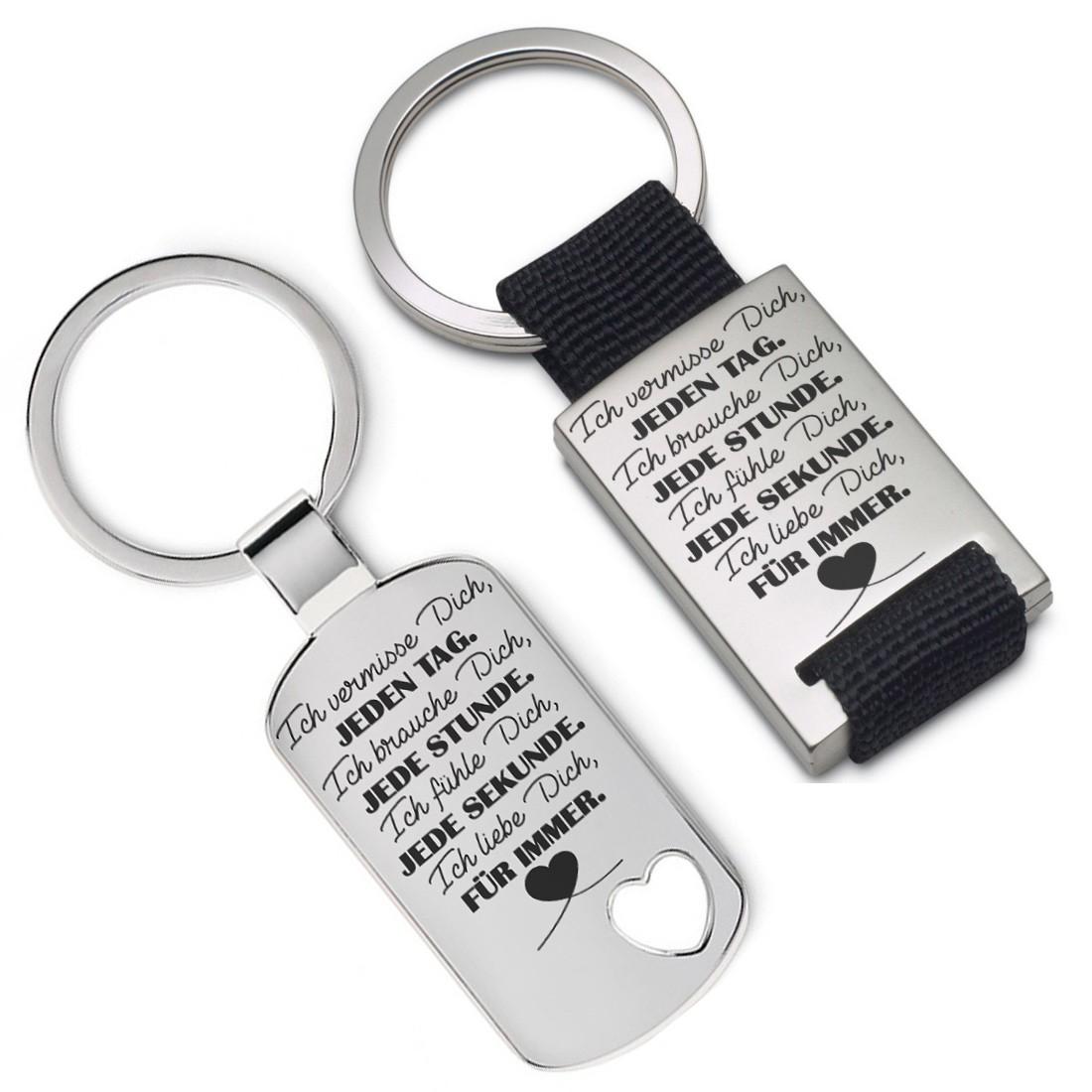 Schlüsselanhänger Ich Liebe dich für immer Partner Silber Metall Anhänger Charm