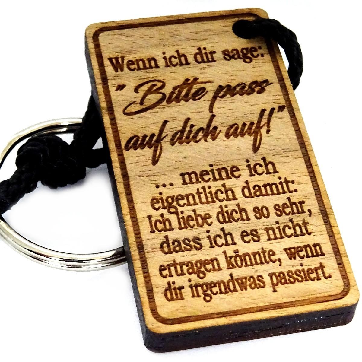 Schlüsselanhänger aus Holz Modell: Wenn ich dir sage