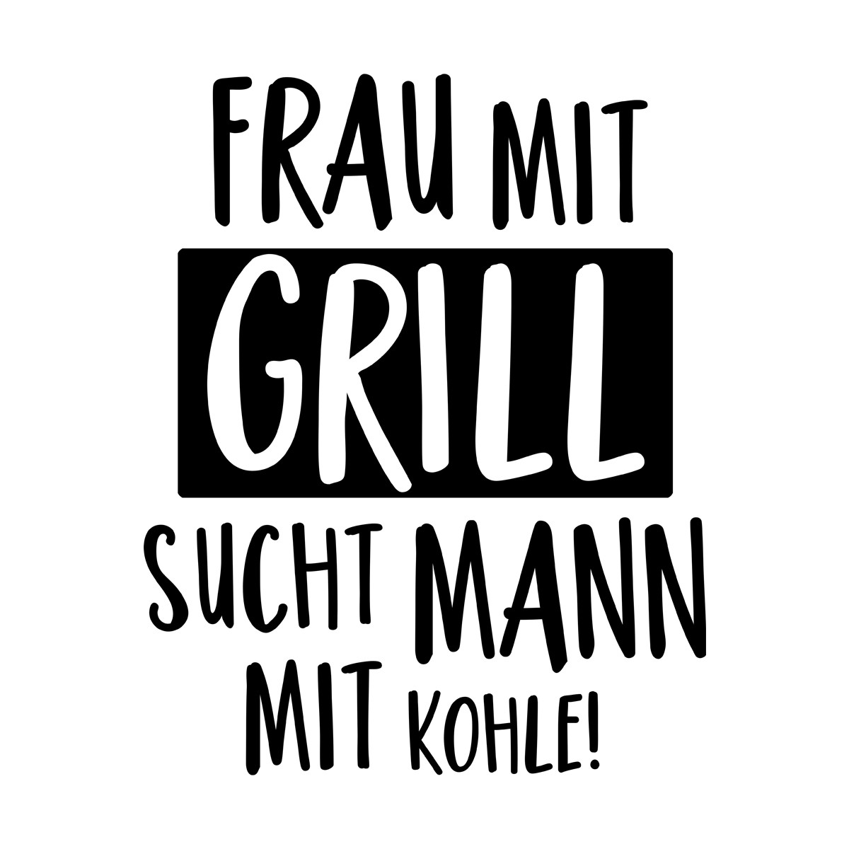 Frau mit grill sucht mann mit kohle [PUNIQRANDLINE-(au-dating-names.txt) 46