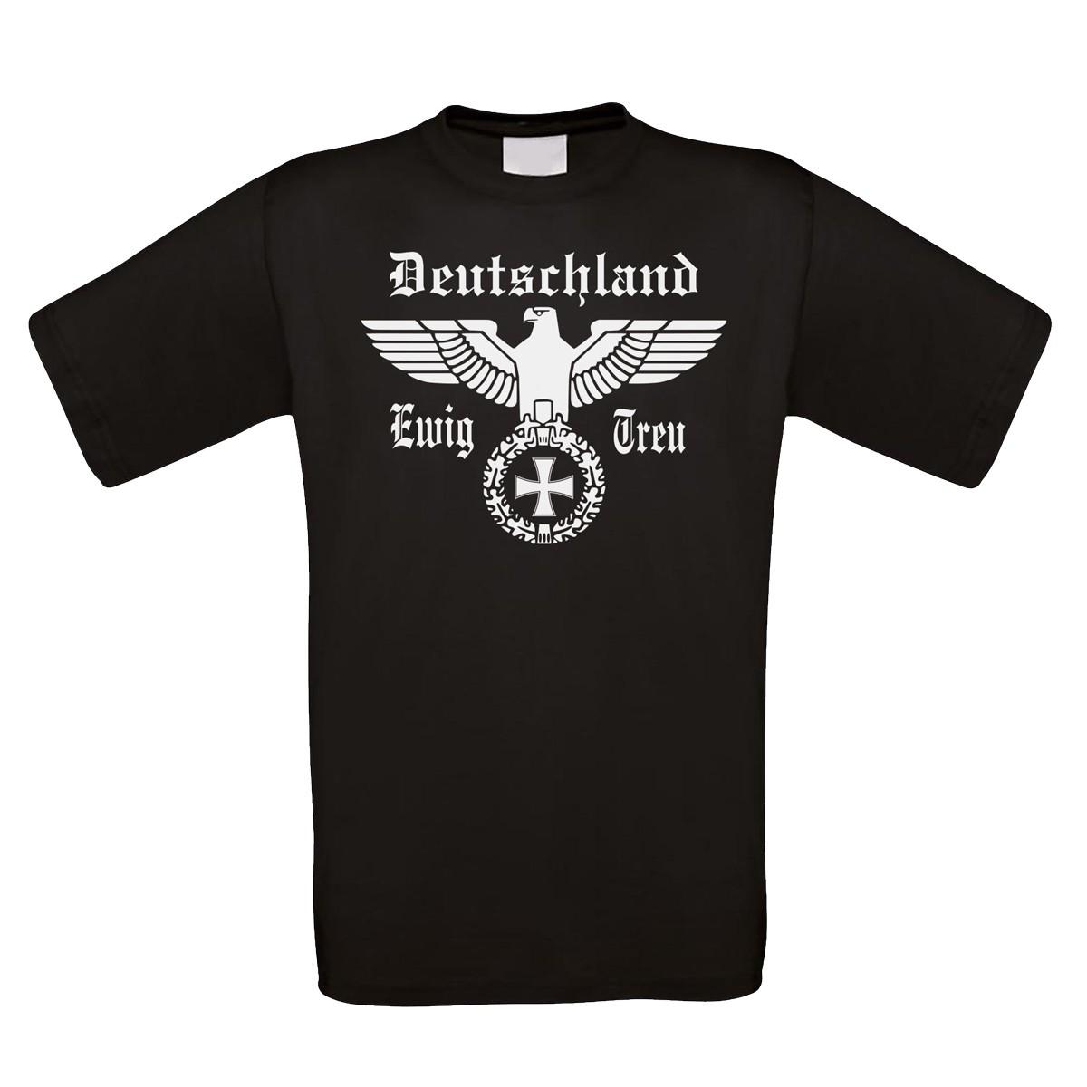 Funshirt weiß oder schwarz - Deutschland ewig treu