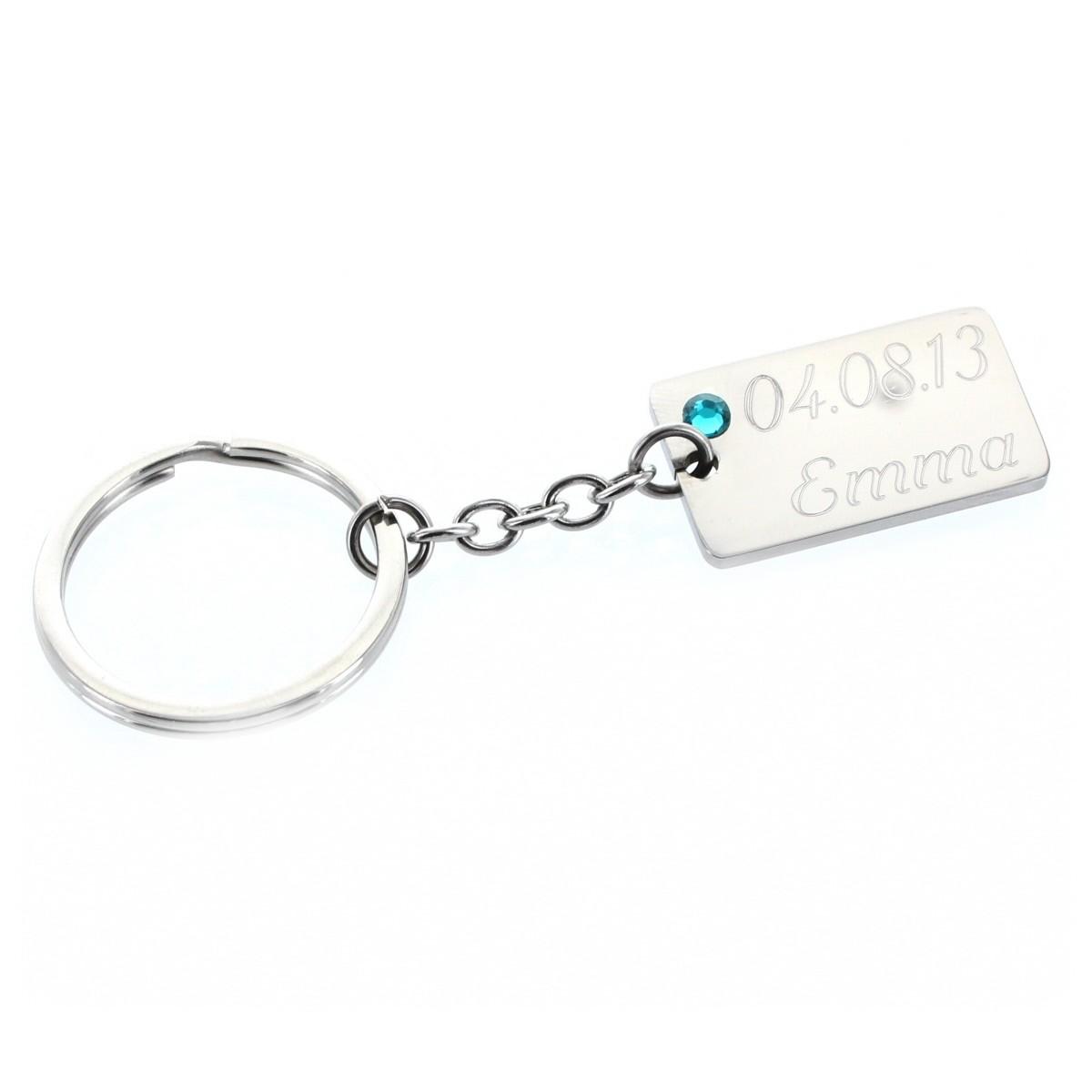 Schlüsselanhänger mit Geburtsstein