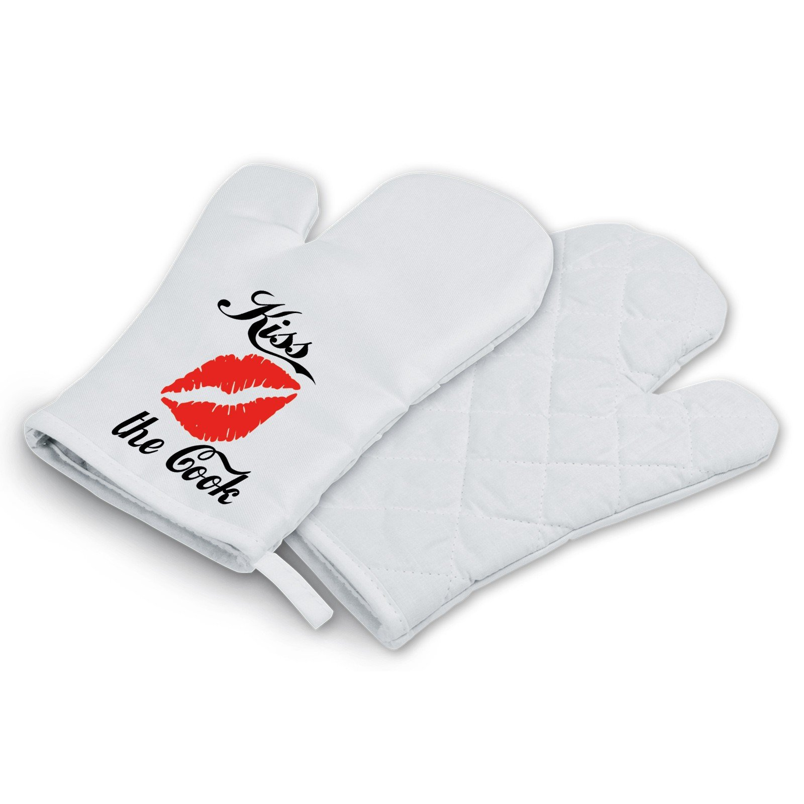 Grillhandschuh mit Motiv - Modell: Kiss the Cook