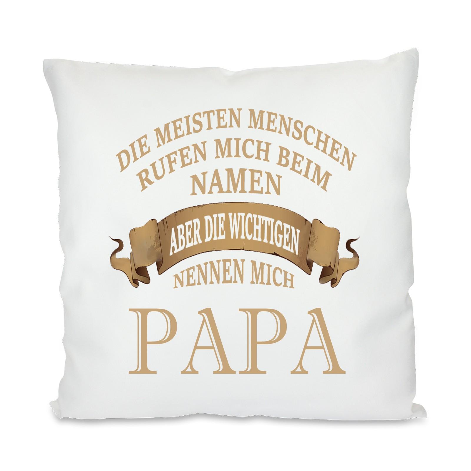 Kissen mit Motiv - Modell: Papa