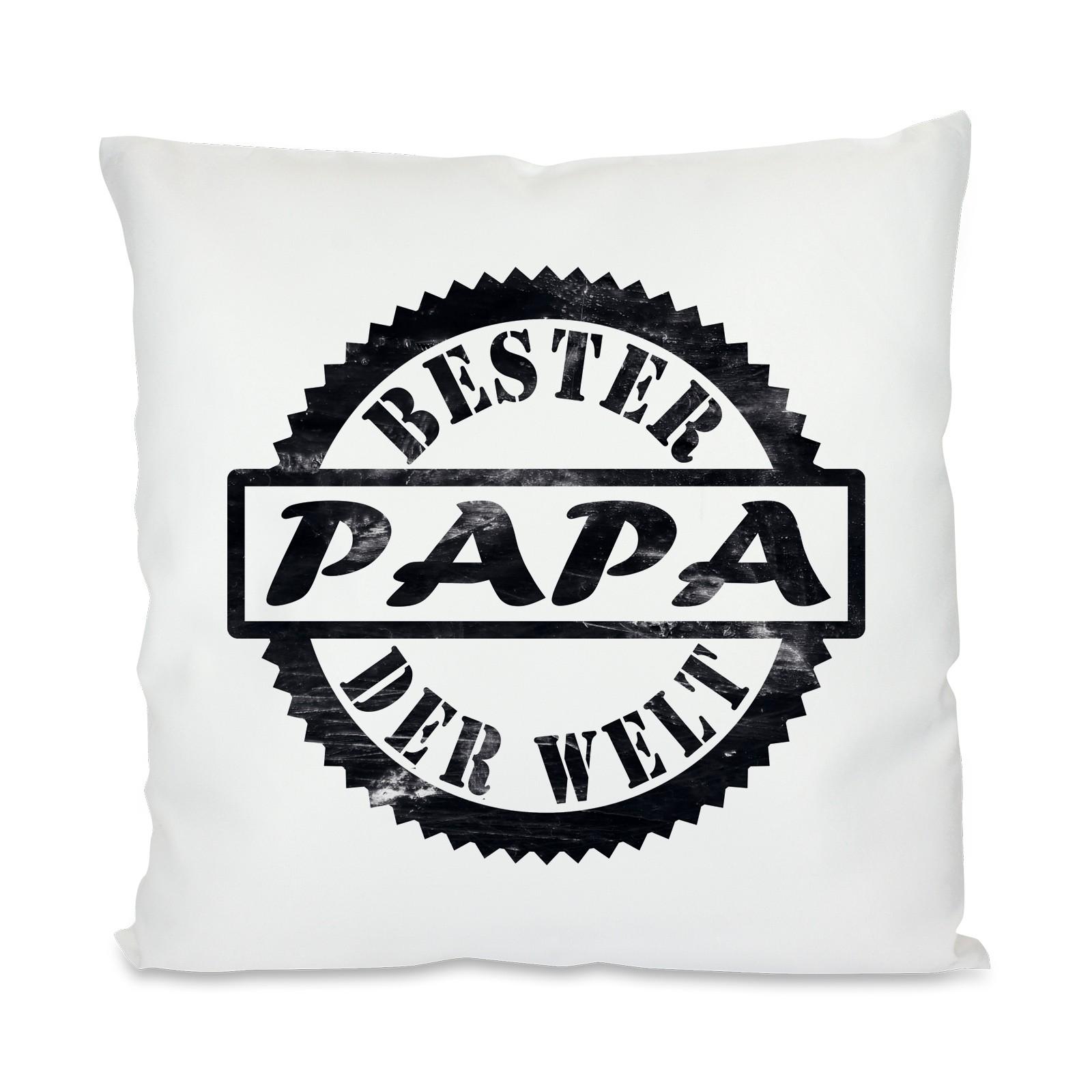 Kissen mit Motiv - Modell: Bester Papa der Welt
