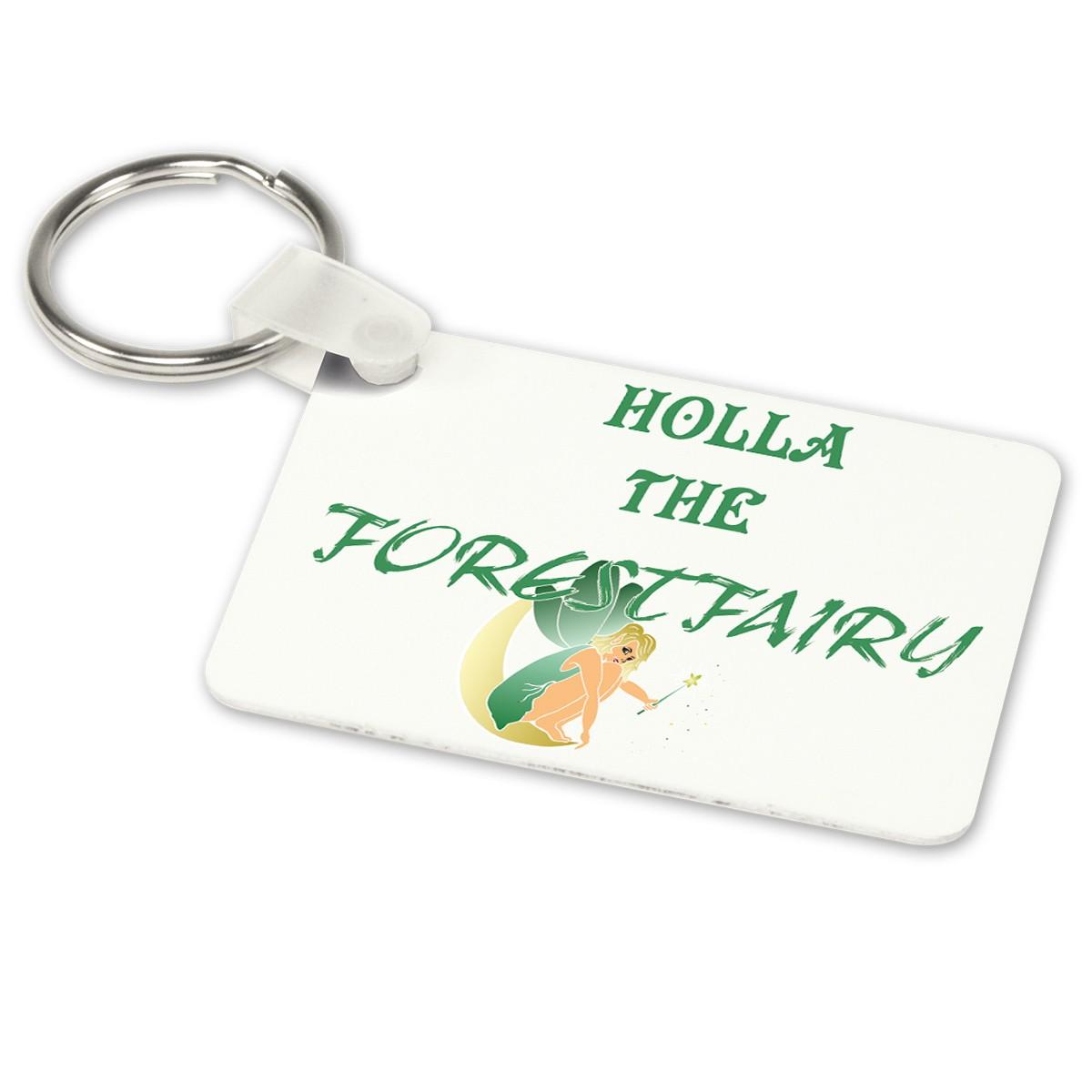 Alu-Schlüsselanhänger weiß - Modell: Forestfairy