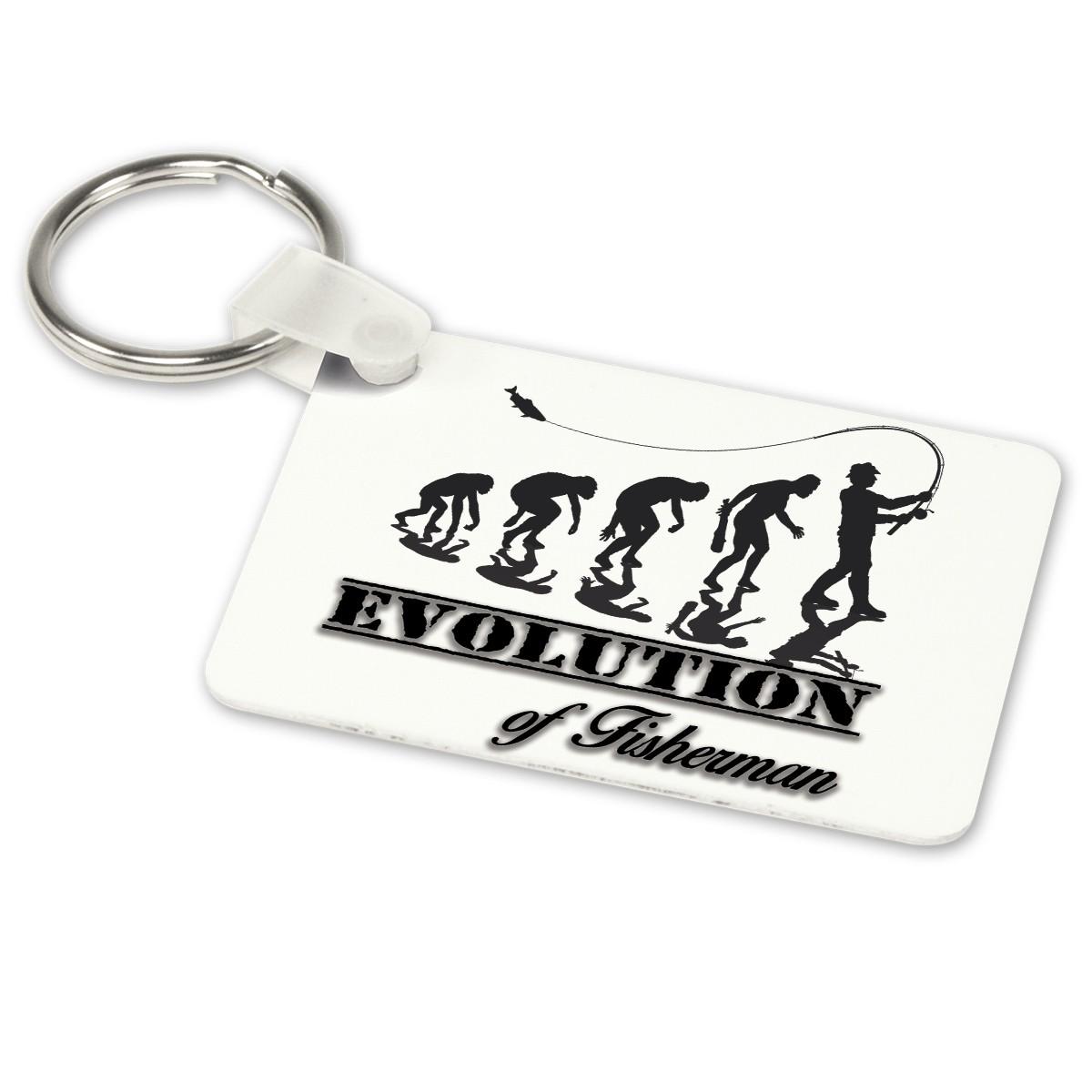 Alu-Schlüsselanhänger weiß - Modell: Evolution