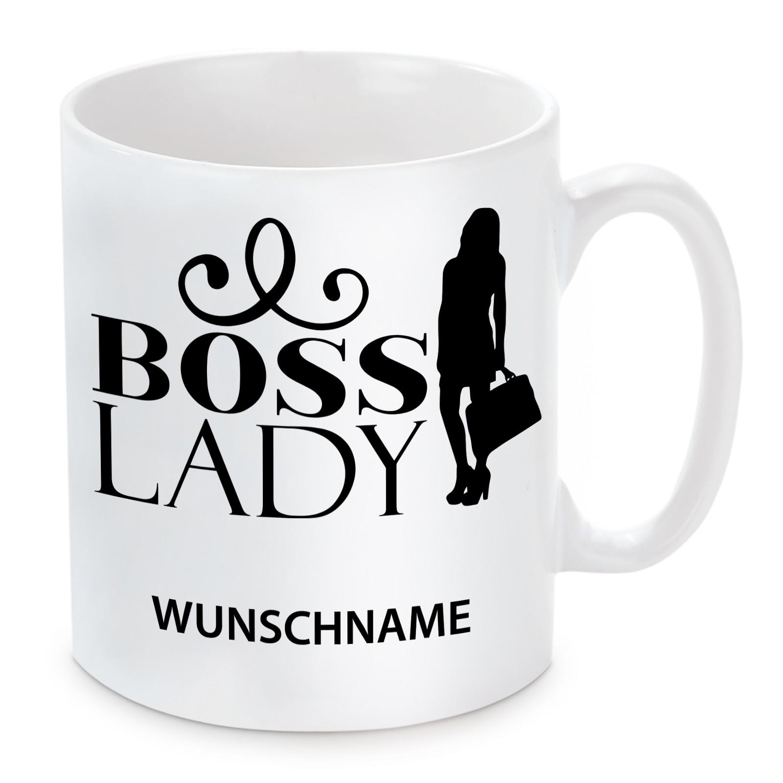 Tasse: Boss Lady (personalisierbar)