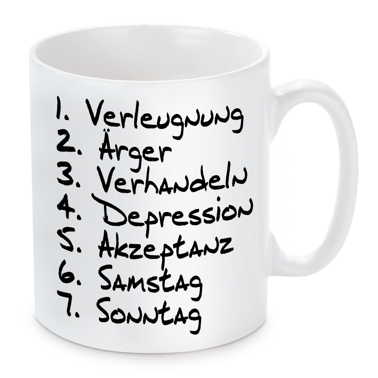 Tasse mit Motiv - Wochentage.