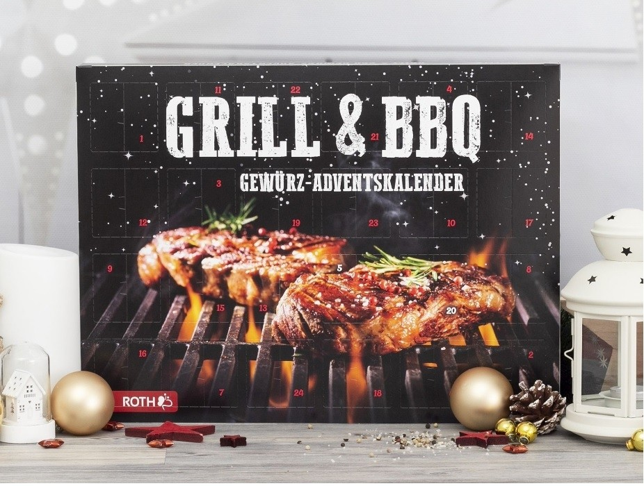 Grill- & BBQ-Gewürz-Adventskalender 24 verschiedene Gewürze und Gewürzmischungen