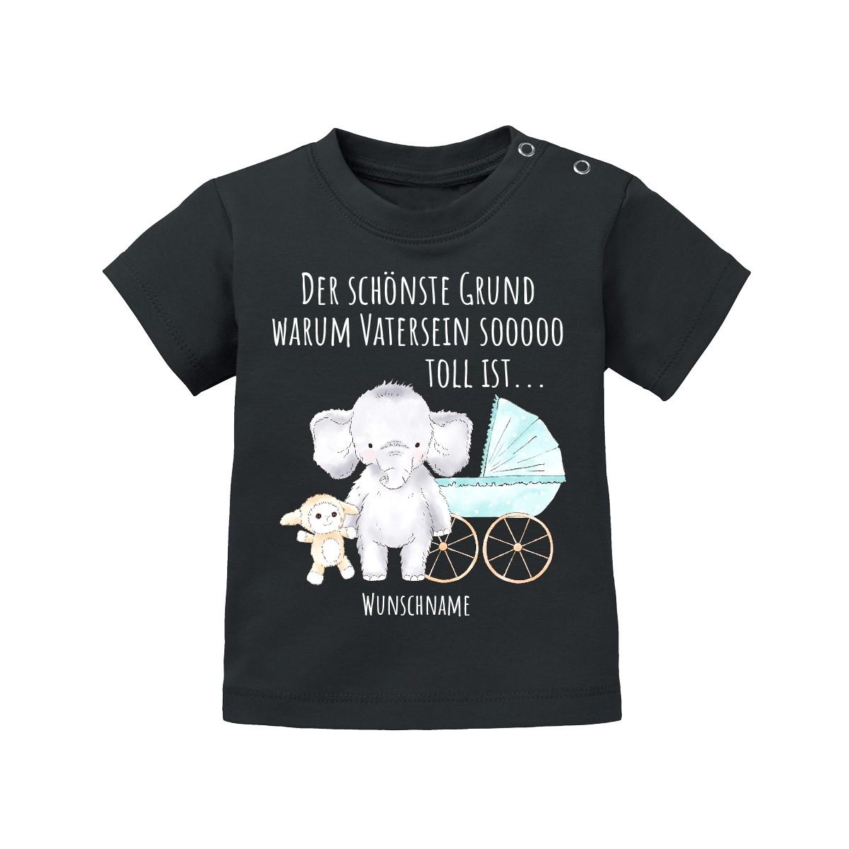 Babyshirt: Der schönste Grund warum Vatersein so toll ist... (personalisierbar)