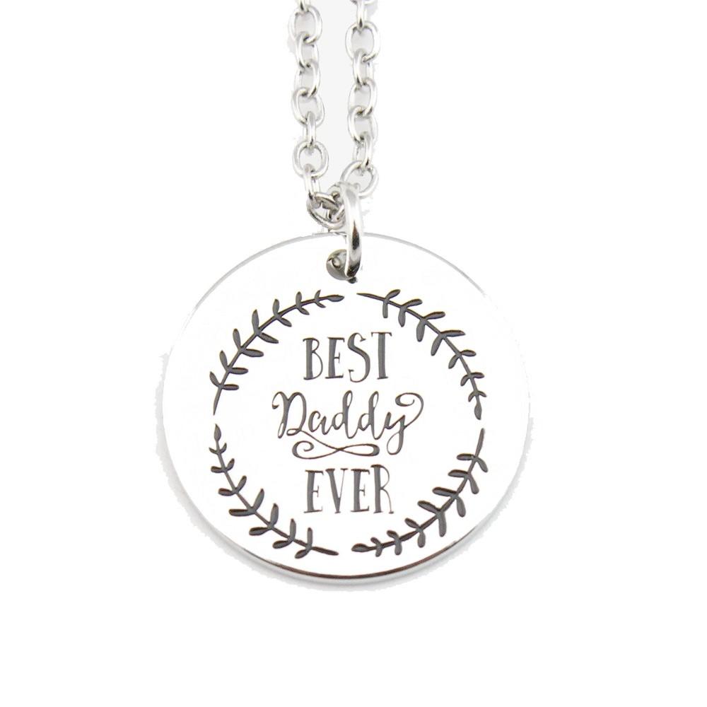 """Halskette mit Anhänger """"Best daddy ever"""""""