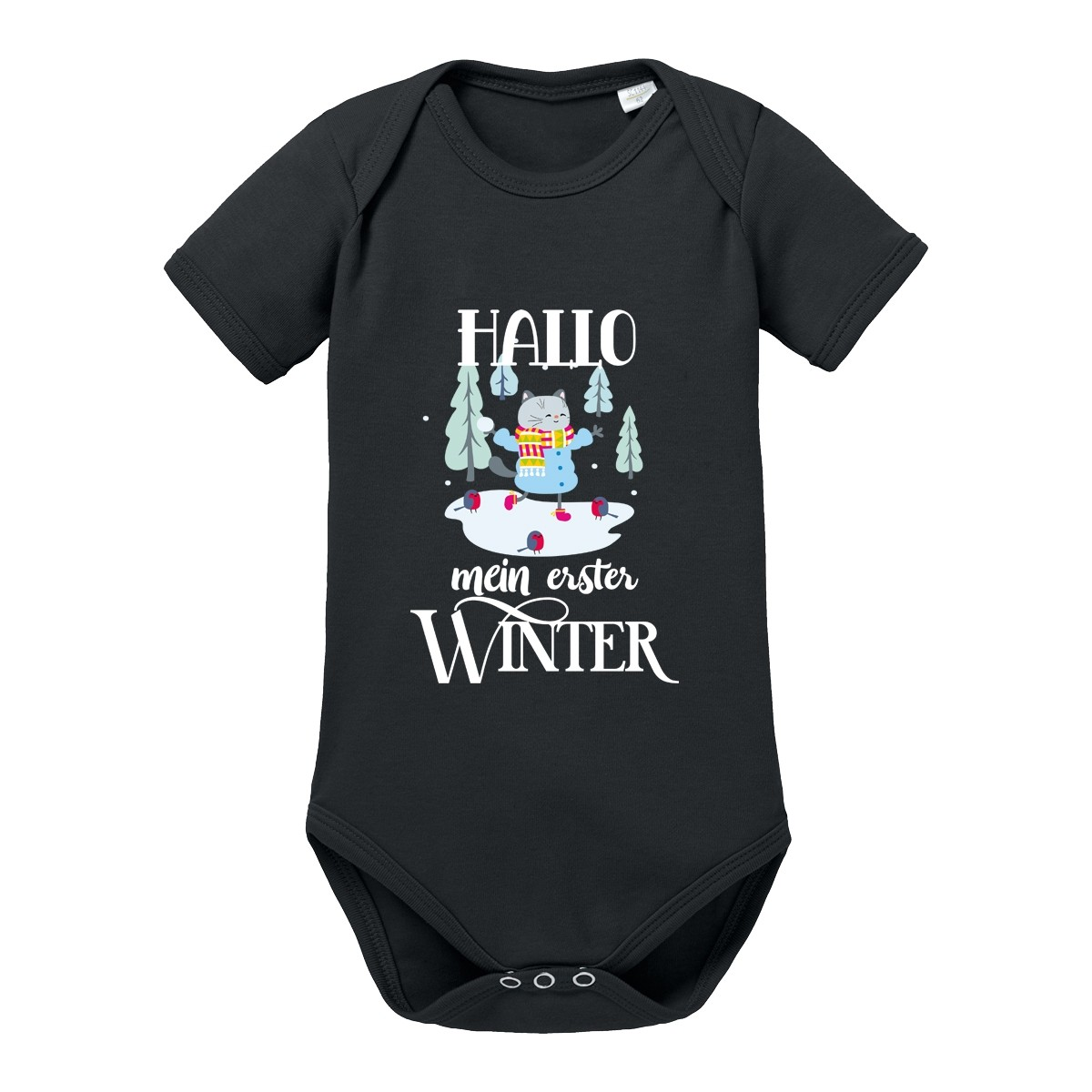 Babybody - Modell: Hallo mein erster Winter (Junge)