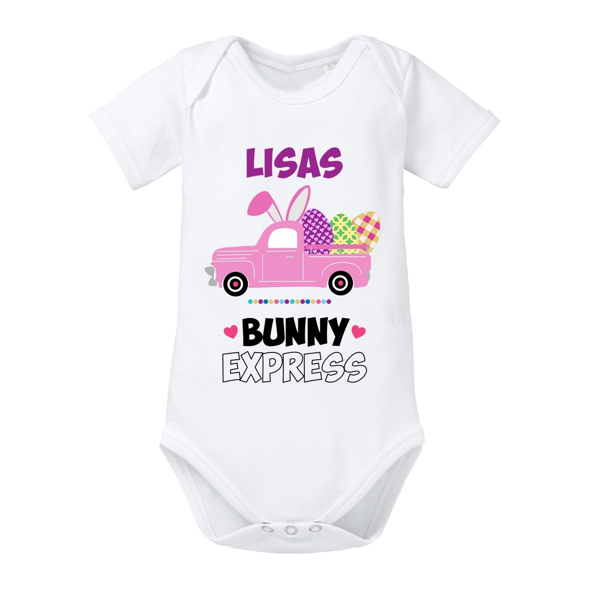 Babybody: BunnyExpress (Mädchen, personalisierbar)