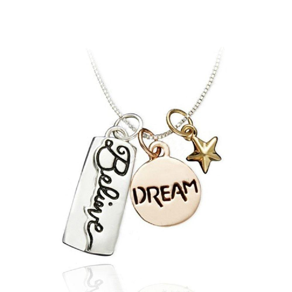 """Halskette mit Anhänger """"Dream Believe"""""""
