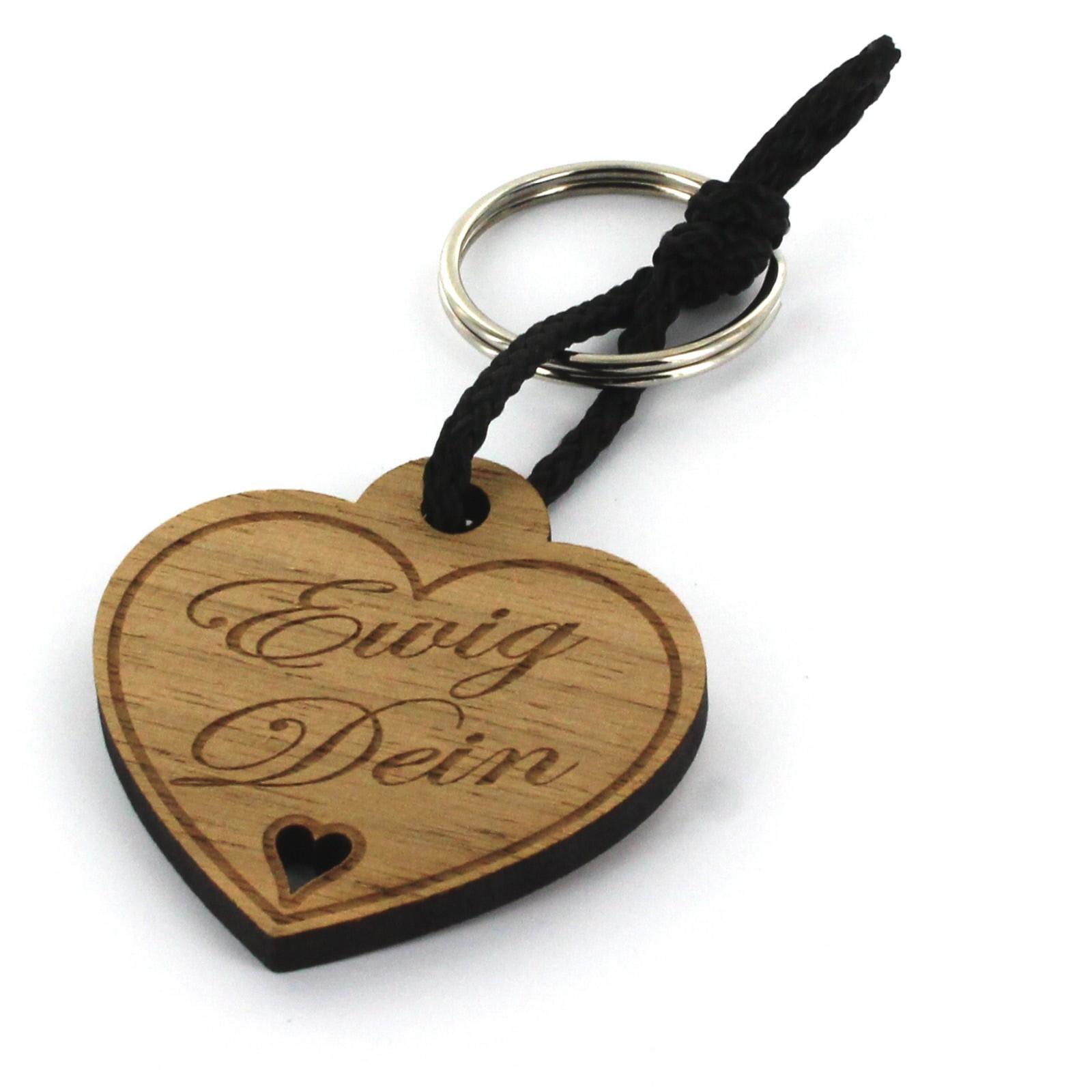 Gravur Schlüsselanhänger aus Holz - Modell: Ewig Dein