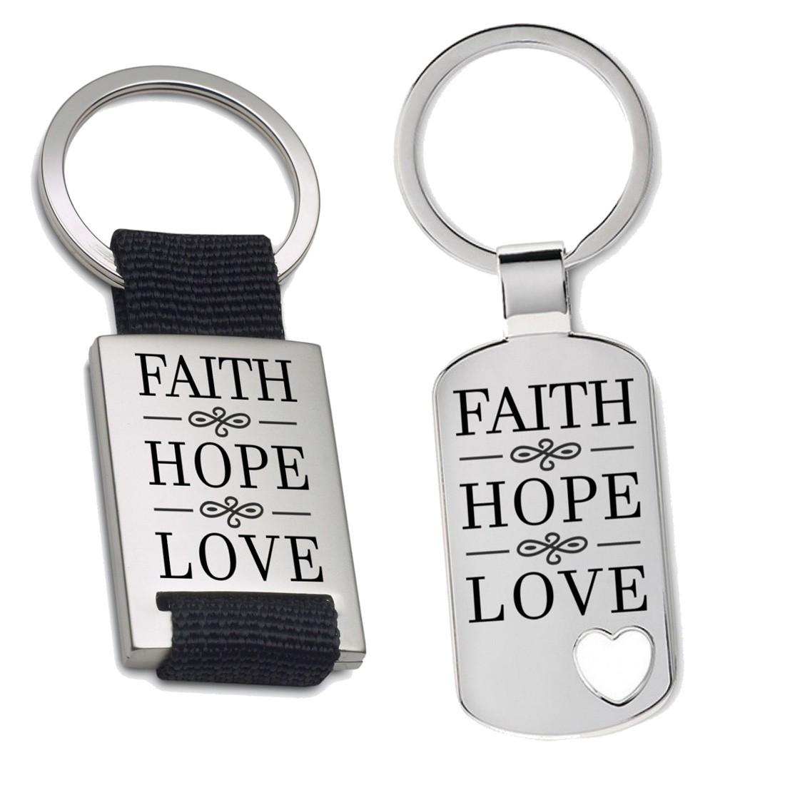 Schlüsselanhänger: Faith hope love