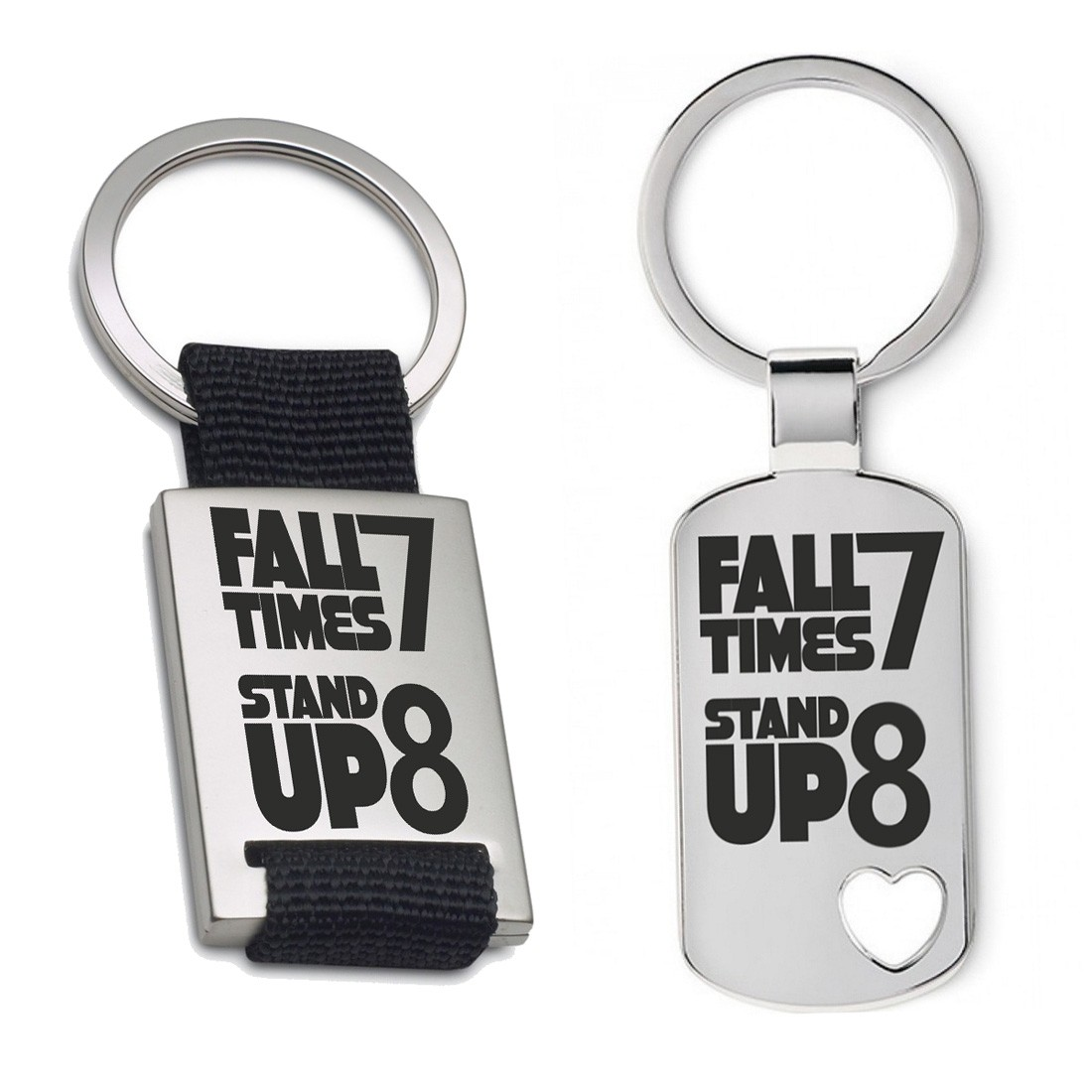 Schlüsselanhänger: Fall seven times