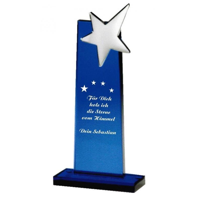 Glas Award mit Stern