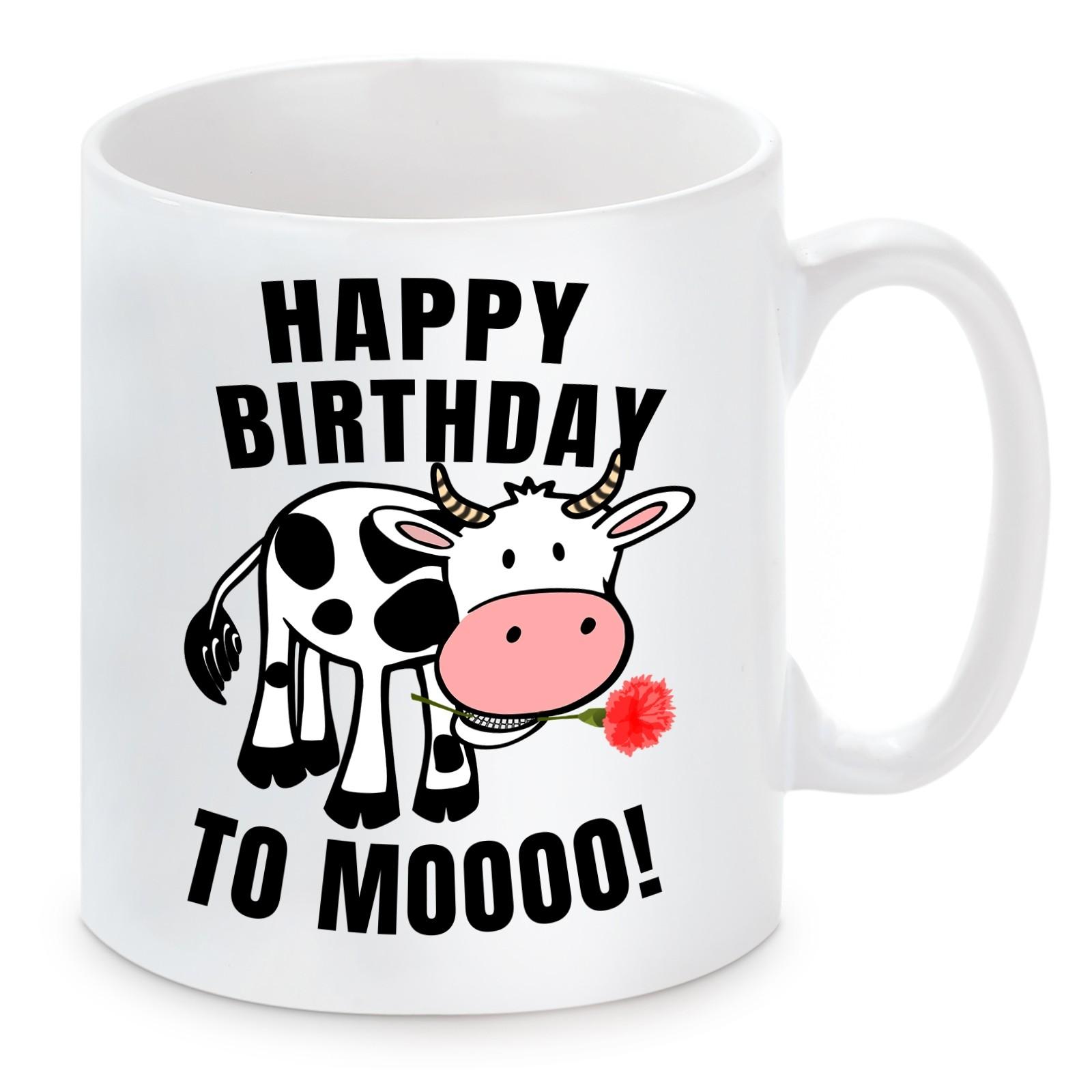 Tasse mit Motiv - Happy Birthday to Mooooo