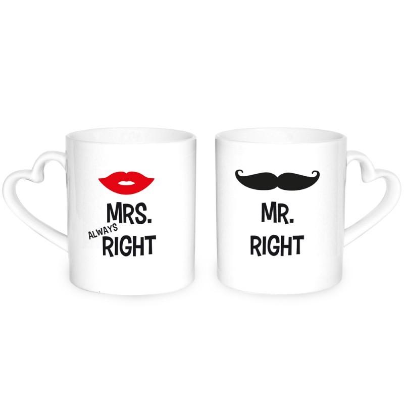 Herztassen Mr Right Mrs. Right