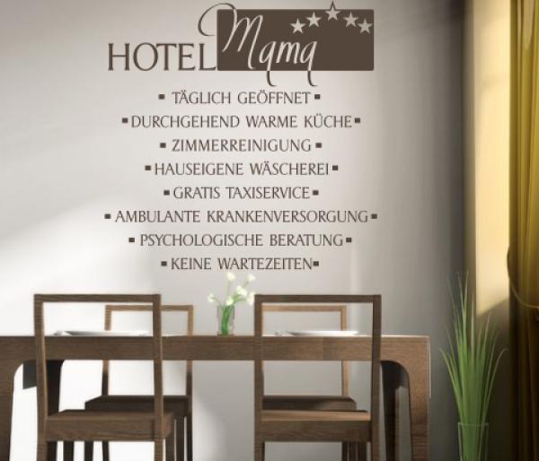 Wandspruch Hotel Mama