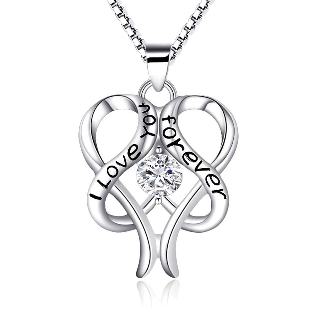 """Halskette mit Anhänger """"I love you forever"""""""
