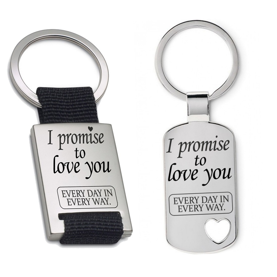 Schlüsselanhänger: I promise to love you